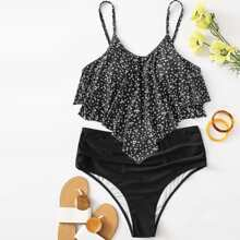 Bañador bikini bajo hanky floral de margarita