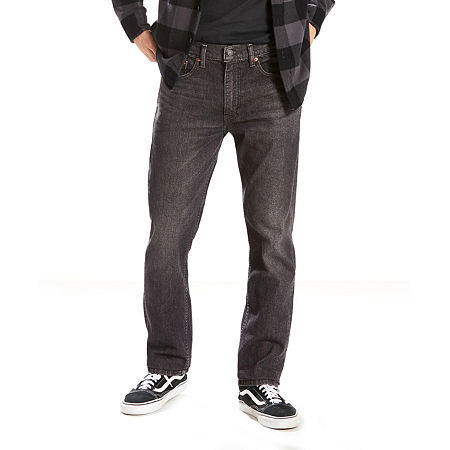 Levi's Men's 505 Regular Fit Jeans - Stretch, 29 32, Black