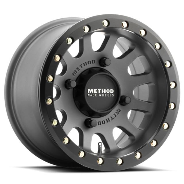 Method MR401 UTV Beadlock Titanium w/ Matte Black Ring Wheel 14x7 4x156 38mm
