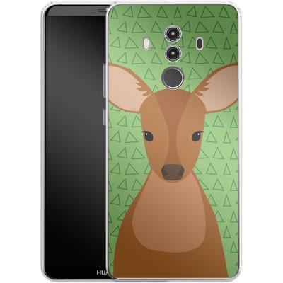 Huawei Mate 10 Pro Silikon Handyhuelle - Deer on Green von caseable Designs
