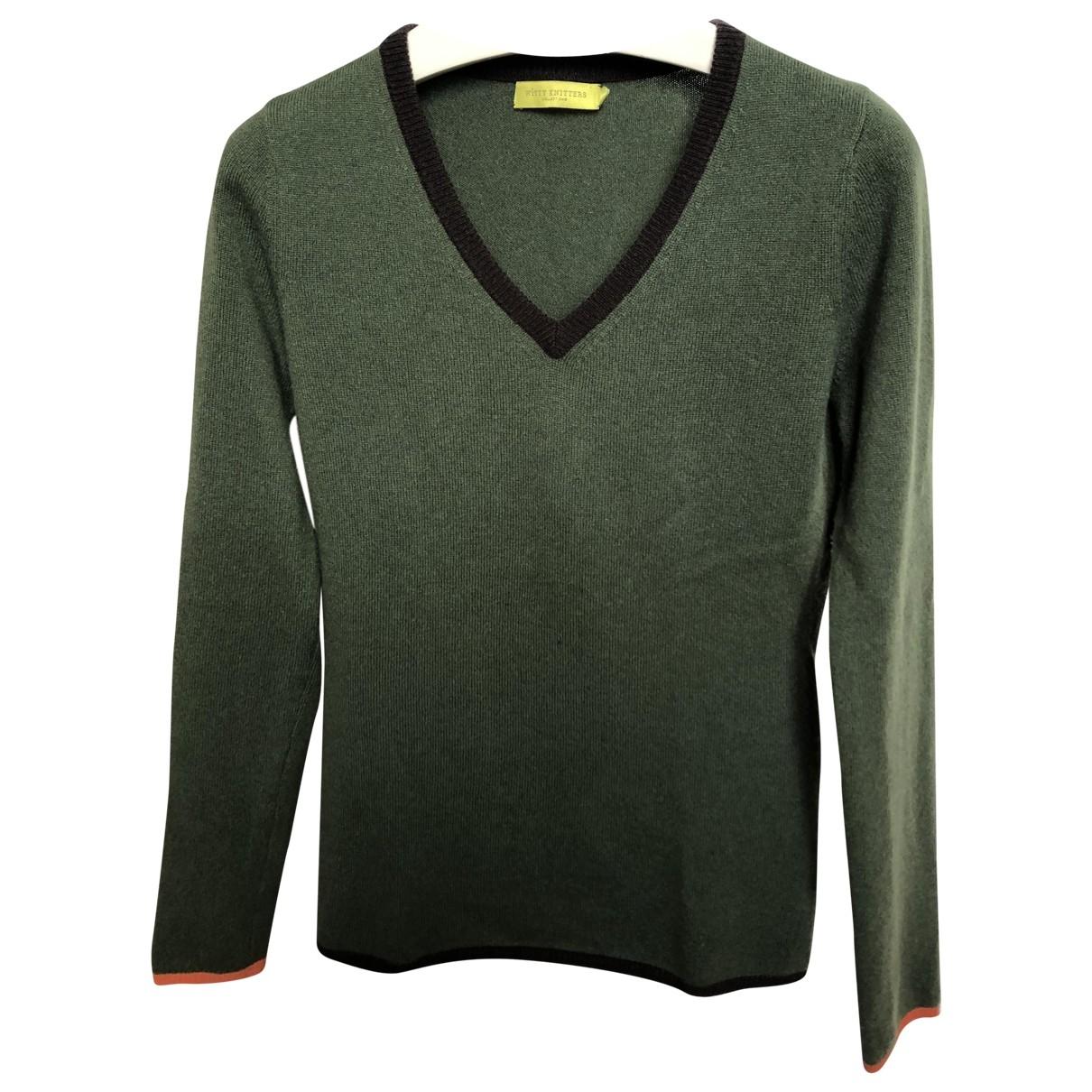 Witty Knitters - Pull   pour femme en cachemire - vert