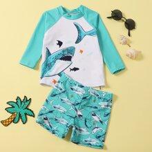 Kleinkind Jungen Badeanzug mit Hai Muster