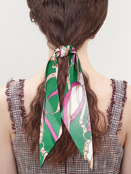 Yoins Scarf print Elastic Hair Ring