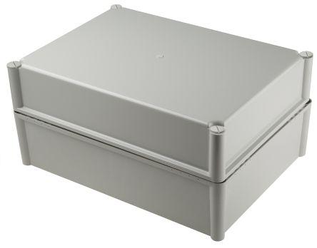 Fibox FEX, Grey Polycarbonate Enclosure, IP54, 378 x 278 x 180mm