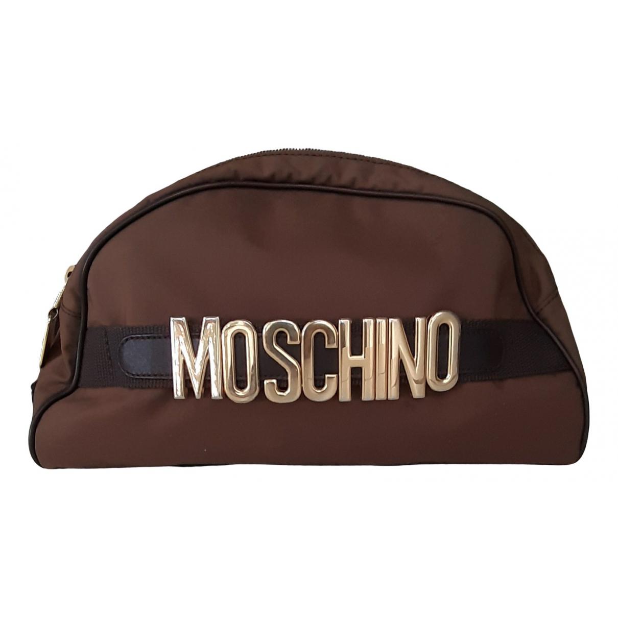 Moschino - Pochette   pour femme en toile - marron