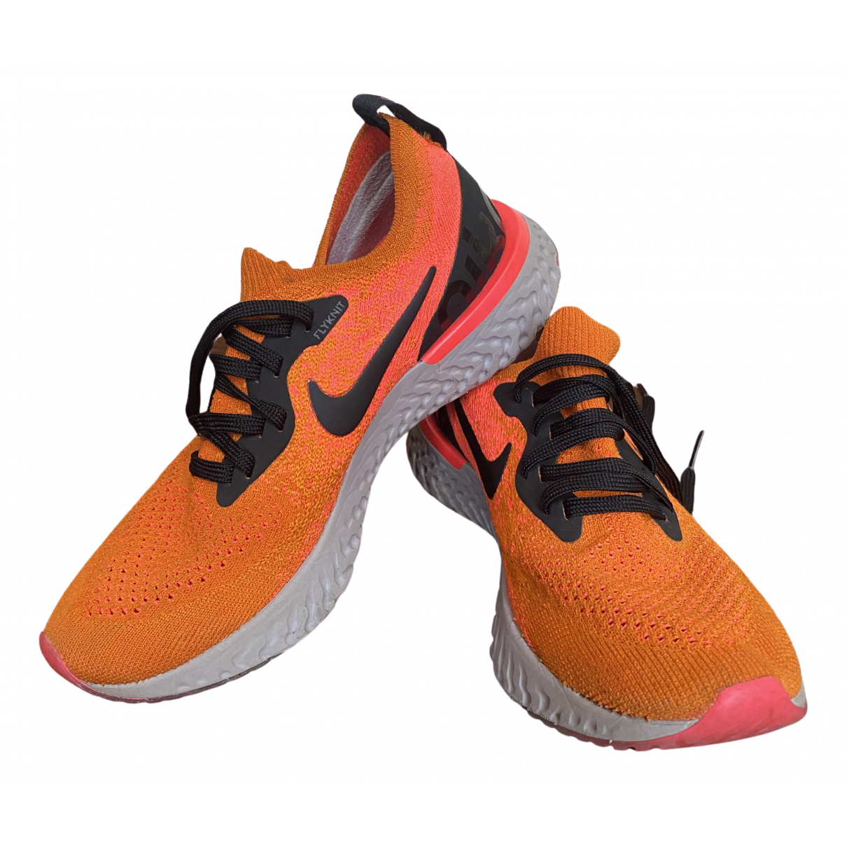 Nike Epic React Orange Cloth Trainers for Kids 36 FR