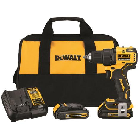 DeWalt 20V Max* Brushless Compact 1/2 in. Drill/Driver Kit