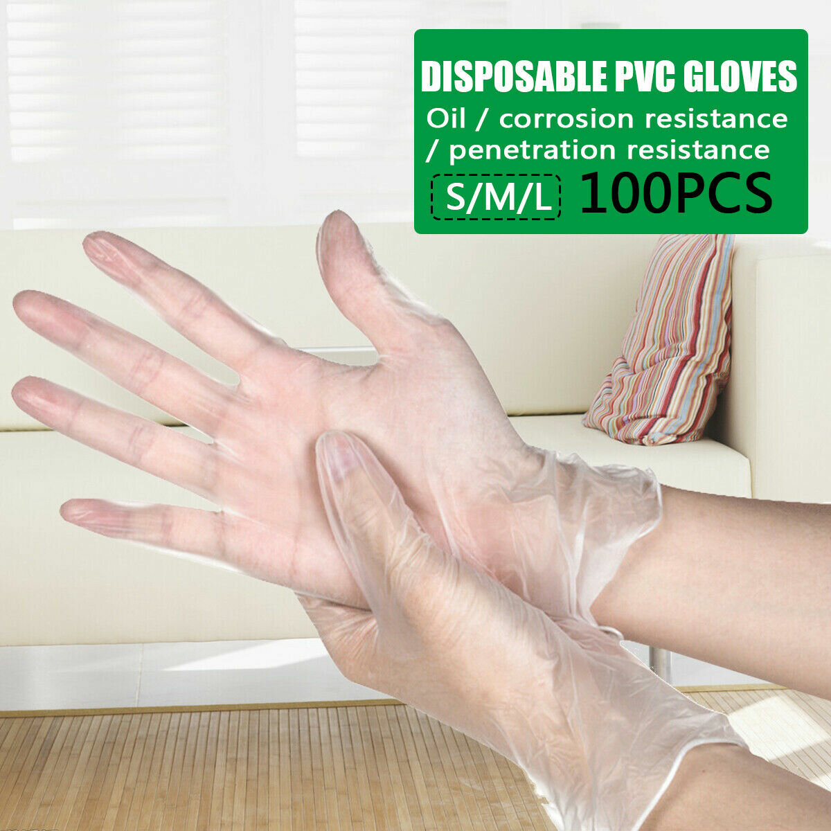 Environmental Protection PVC Disposable Gloves Hygiene Fingerprint Touch Screen Protection Isolation