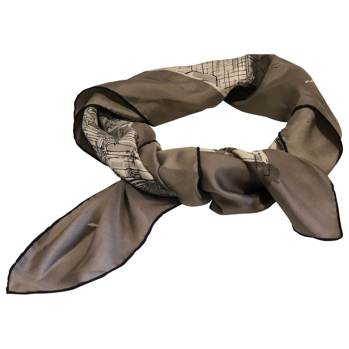 Burberry \N Khaki Silk Silk handkerchief for Women \N