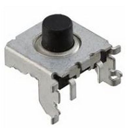 TE Connectivity Black Cap Tactile Switch, Single Pole Single Throw (SPST) 50 mA 2.7mm Through Hole (10)