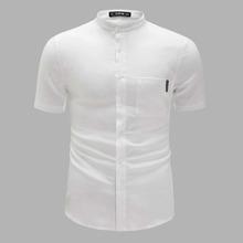 Men Pocket Patched Solid Shirt
