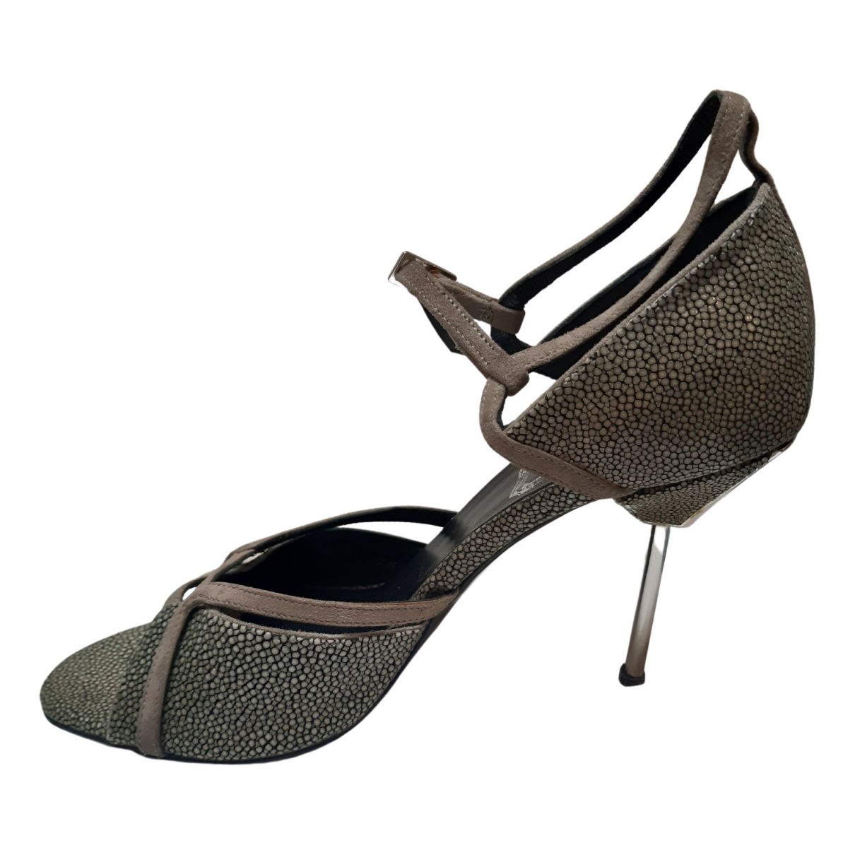 Dior \N Grey Stingray Sandals for Women 36 EU