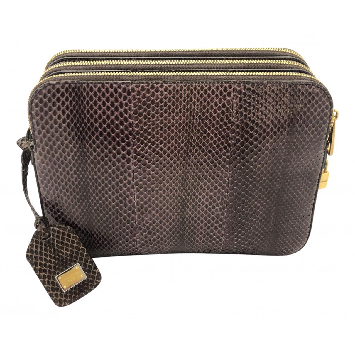 Dolce & Gabbana \N Purple Python handbag for Women \N