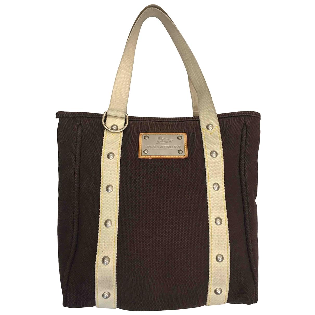 Louis Vuitton - Sac a main Antigua pour femme en coton - marron
