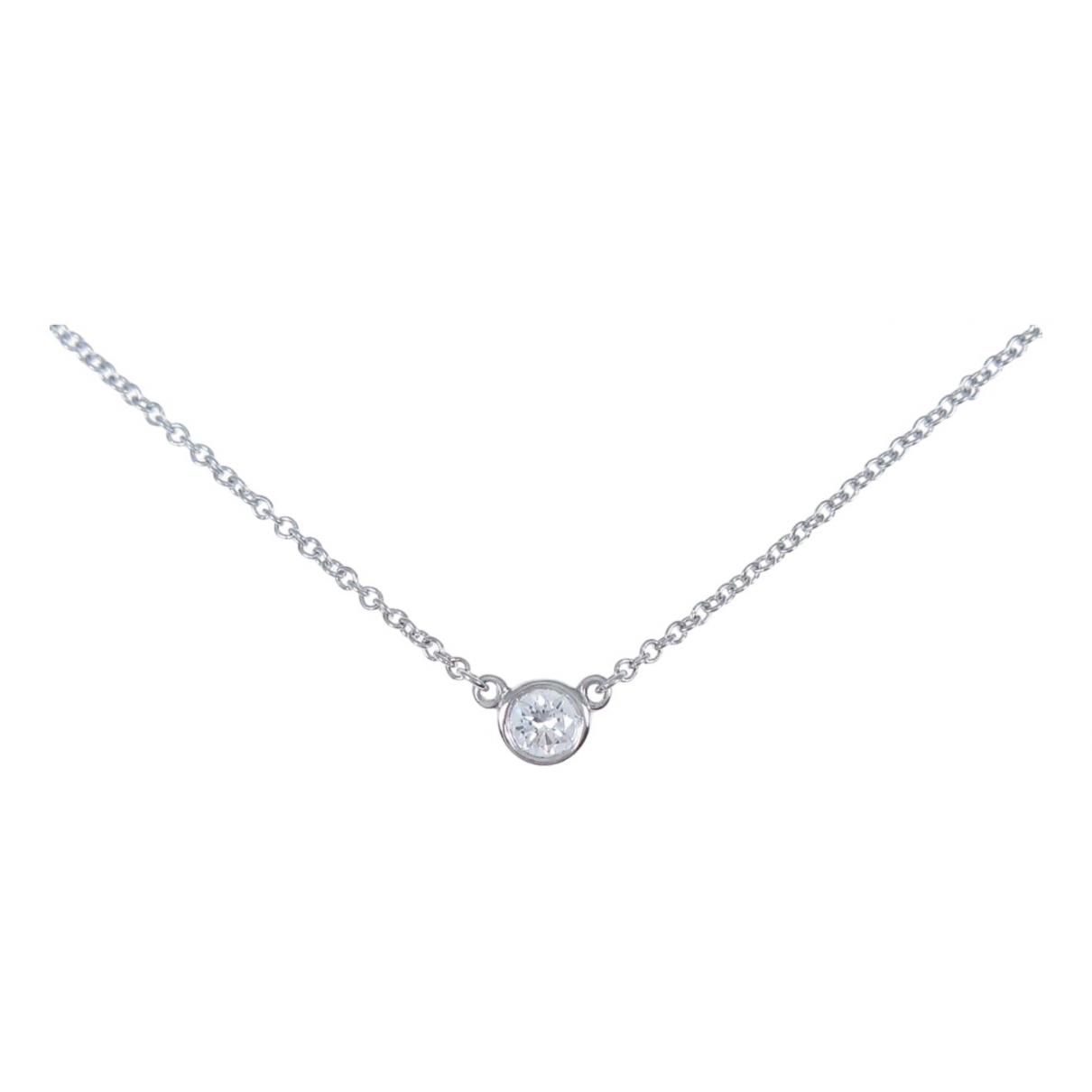 Tiffany & Co Elsa Peretti  Kette in  Silber Platin