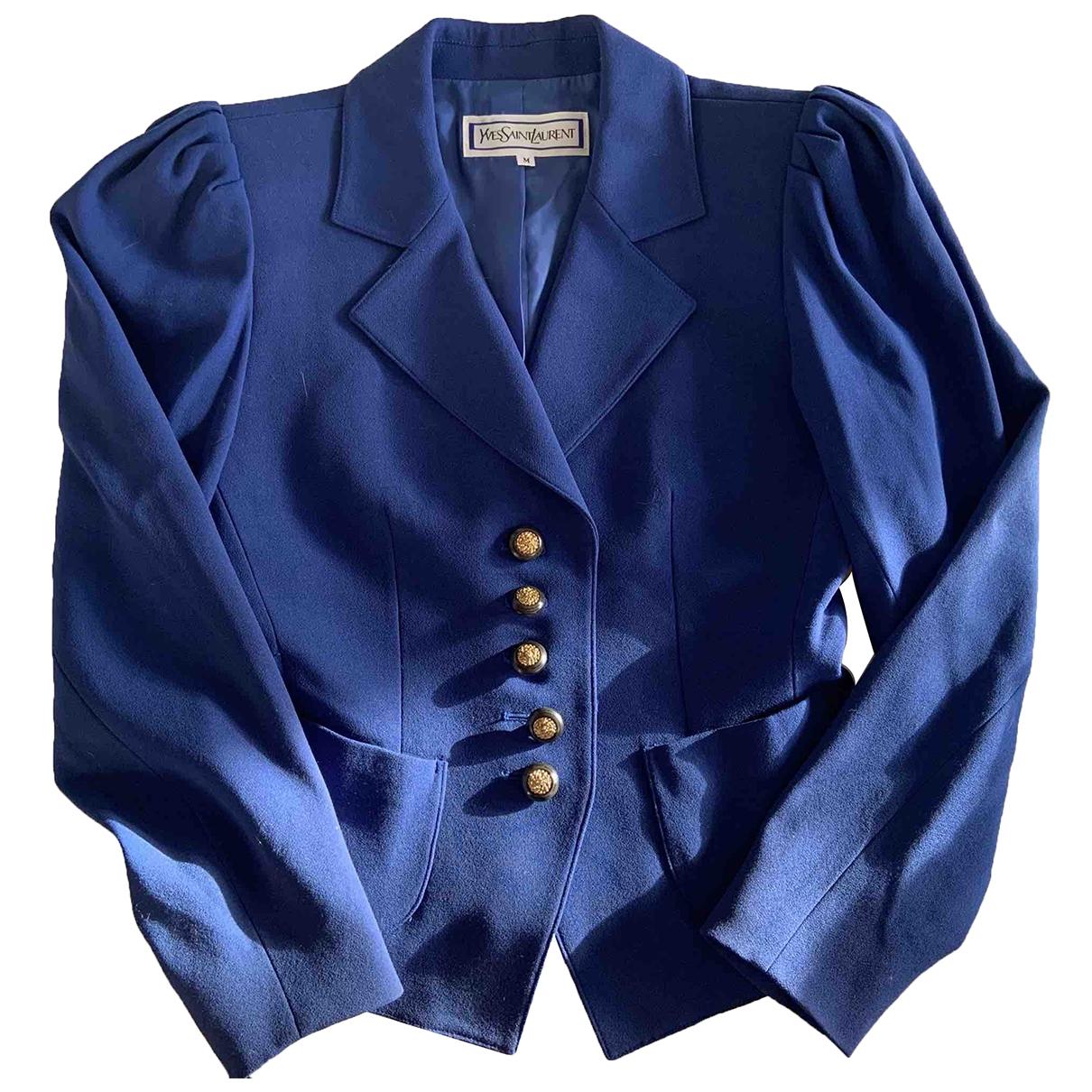 Yves Saint Laurent - Veste   pour femme - bleu
