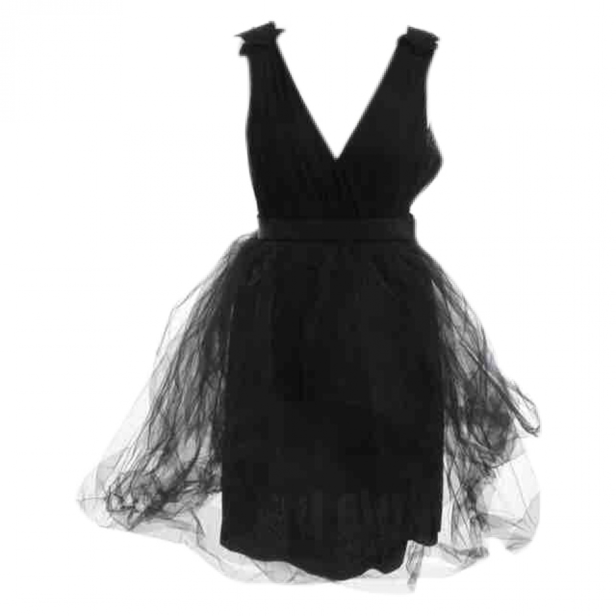 Red Valentino Garavani \N Black Cotton - elasthane dress for Women 42 IT