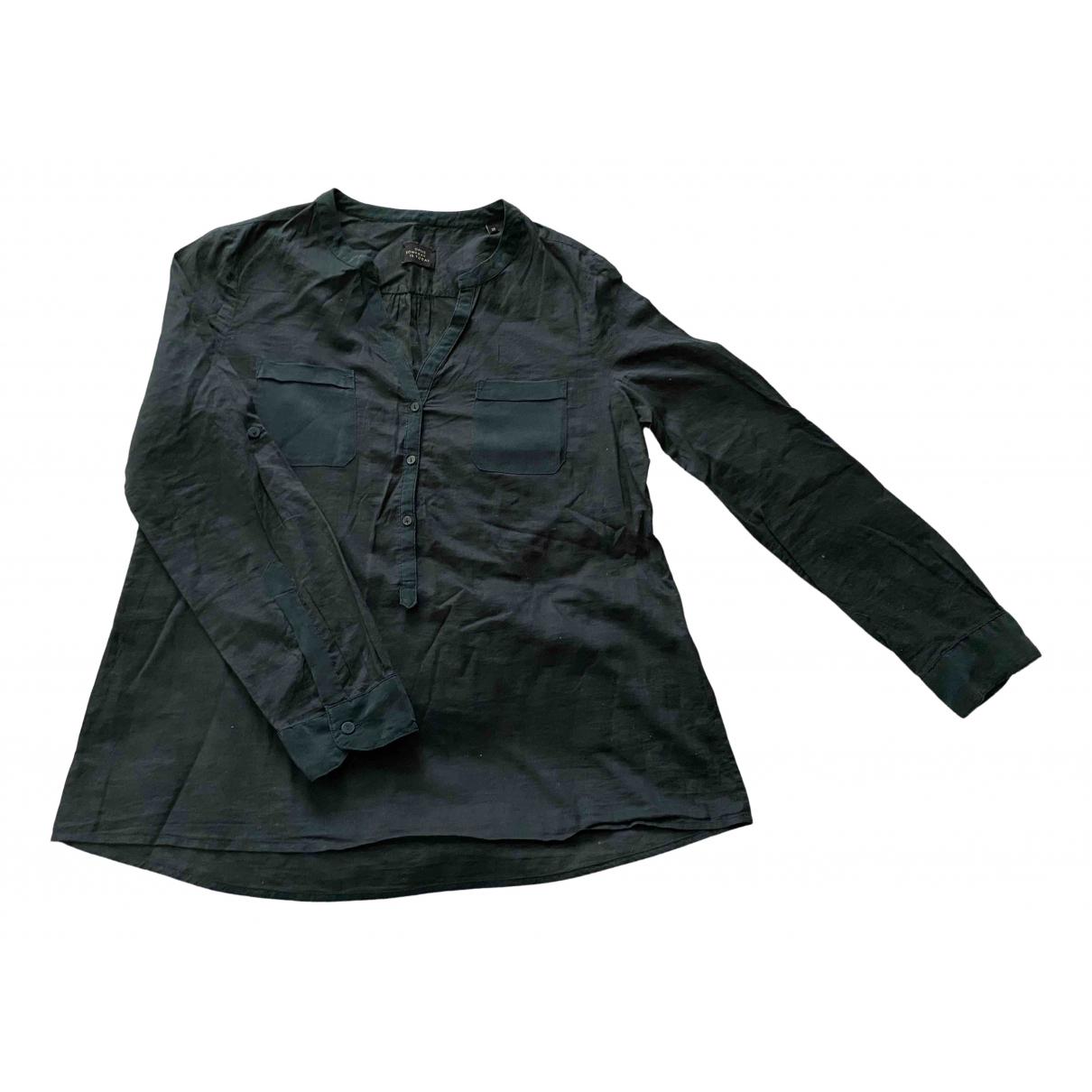 - Top Oversize pour femme en lin - vert