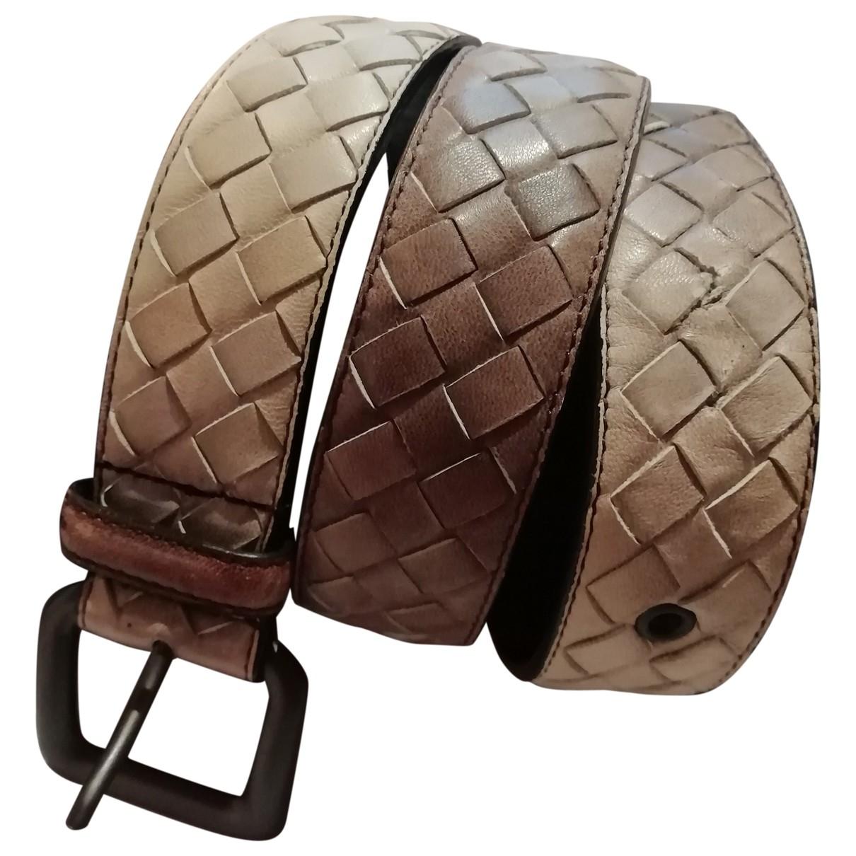 Bottega Veneta \N Beige Leather belt for Women S International