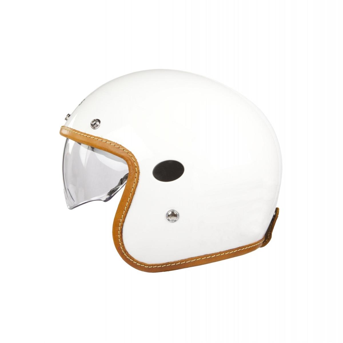 Helstons Naked Carbon Fiber Blanc Jet Helmet M