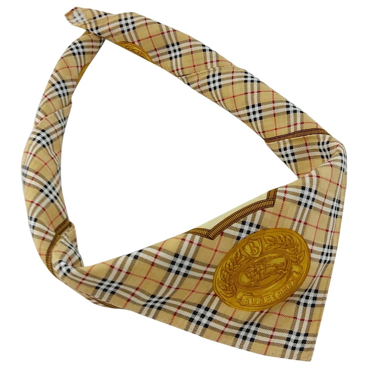 Burberry \N Multicolour Cotton scarf & pocket squares for Men \N