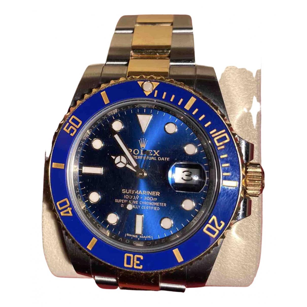 Rolex Submariner Uhr in  Blau Gelbgold