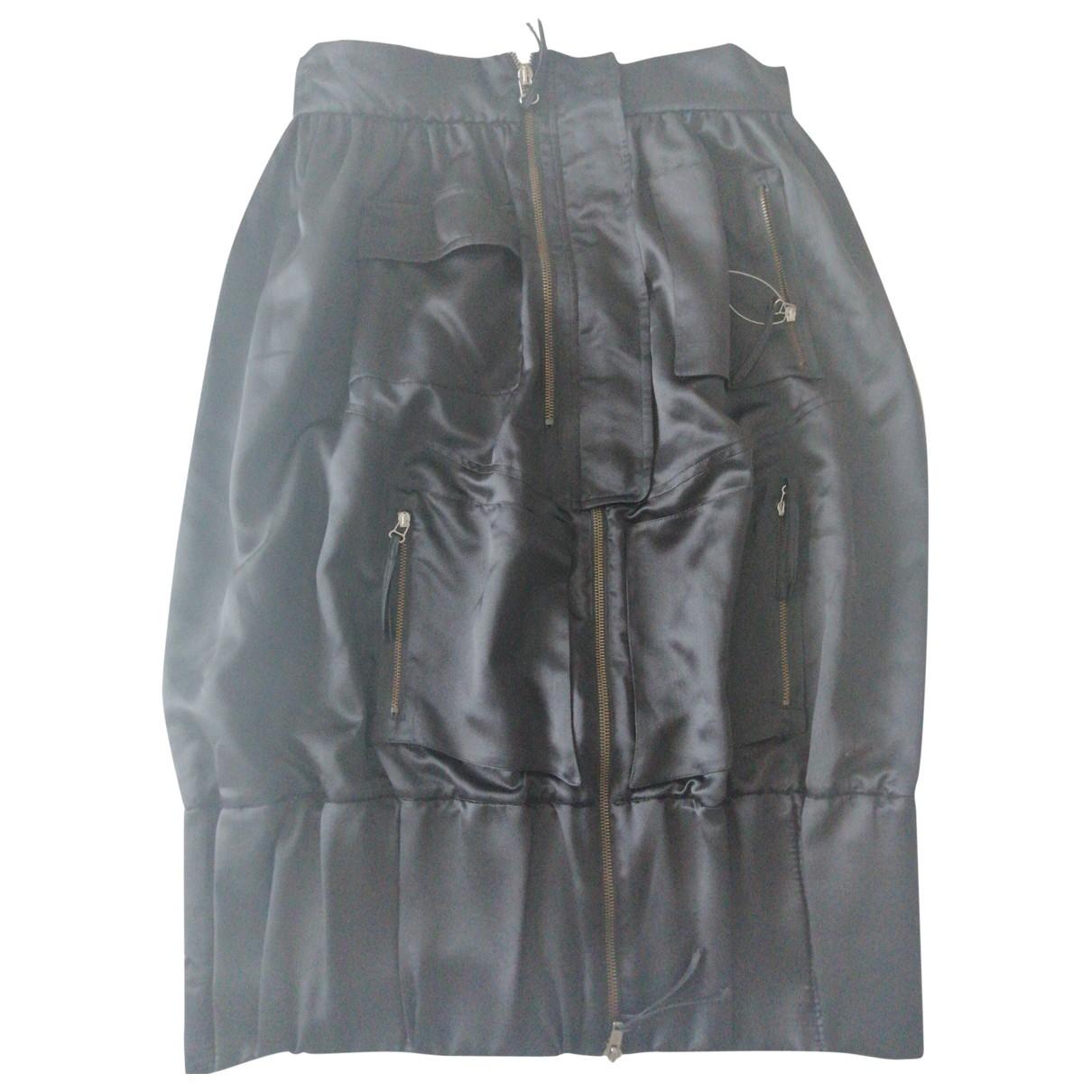 Roberto Capucci \N Black Silk skirt for Women 44 IT