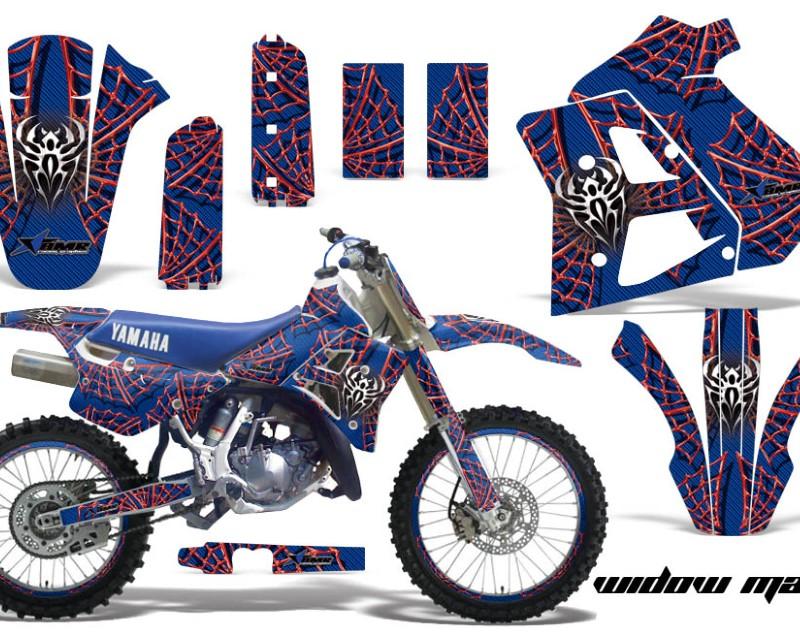 AMR Racing Graphics MX-NP-YAM-WR250Z-91-93-WM U R Kit Decal Sticker Wrap + # Plates For Yamaha WR250Z 1991-1993 WIDOW BLUE RED