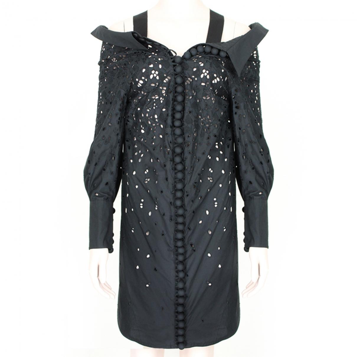 Proenza Schouler - Robe   pour femme en coton - noir