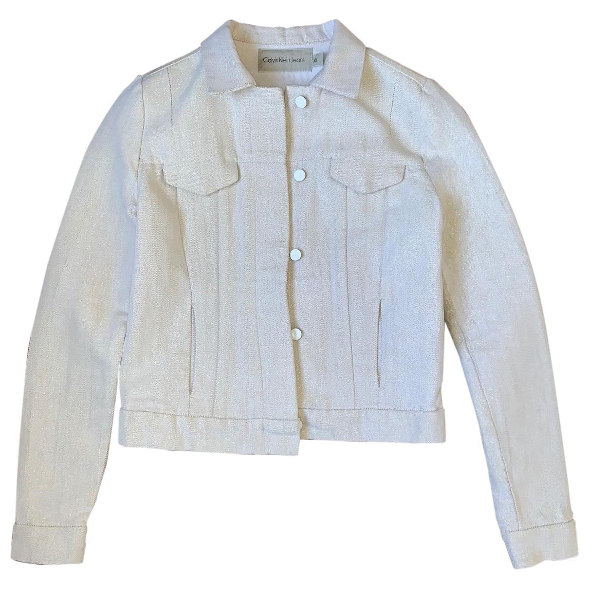Calvin Klein N Gold Cotton jacket for Women XS International