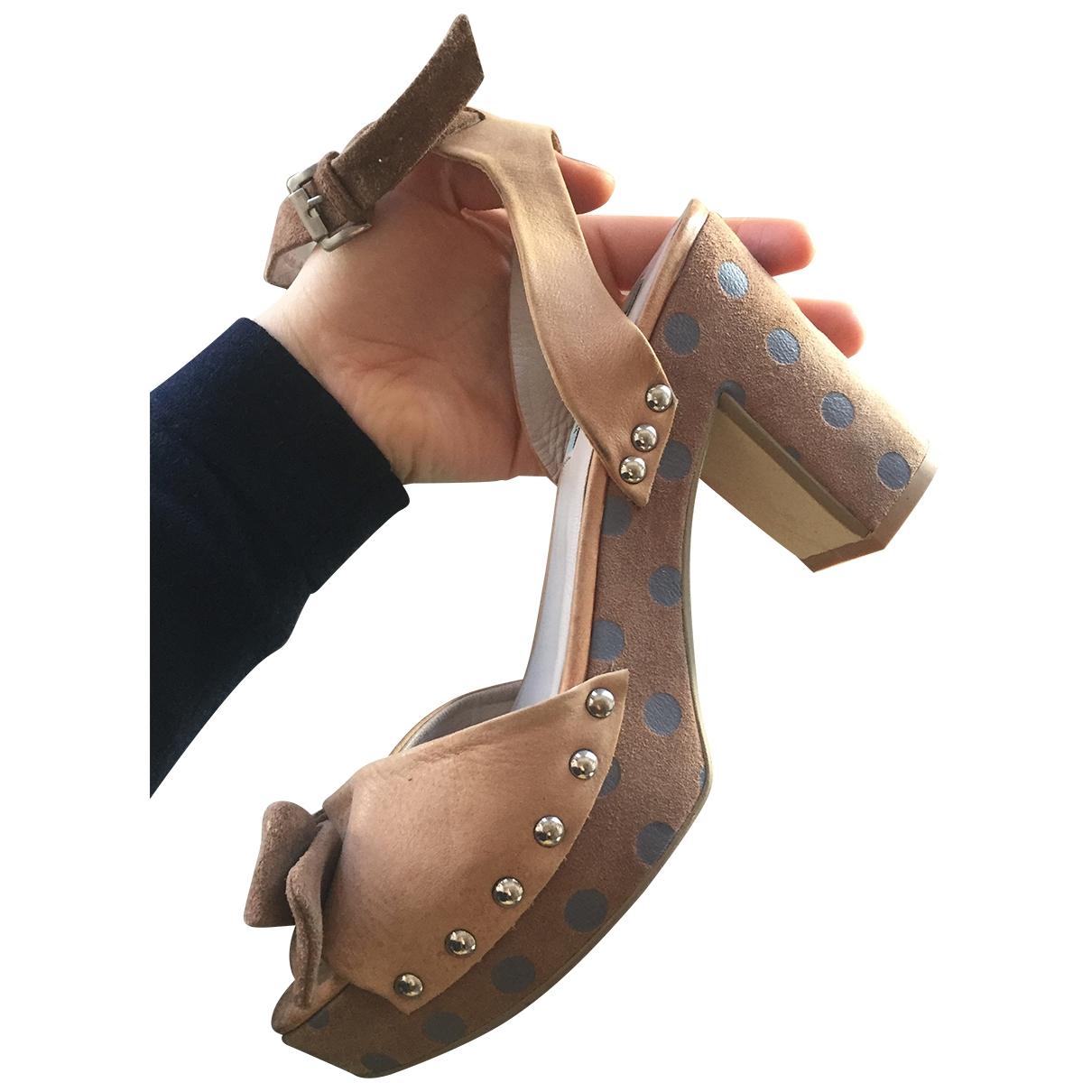 Jette Joop - Sandales   pour femme en cuir - beige