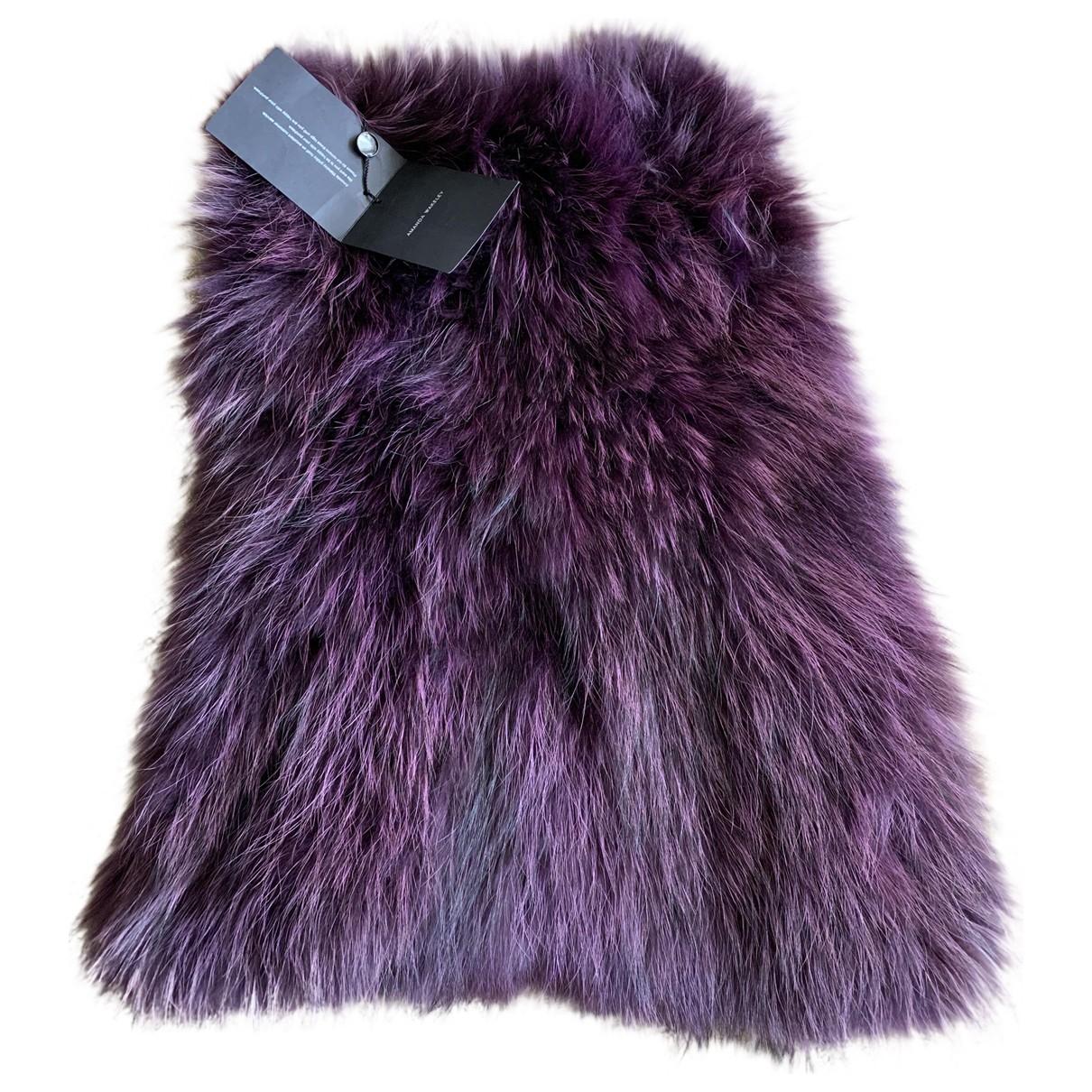 Amanda Wakeley - Foulard   pour femme en racoon - violet