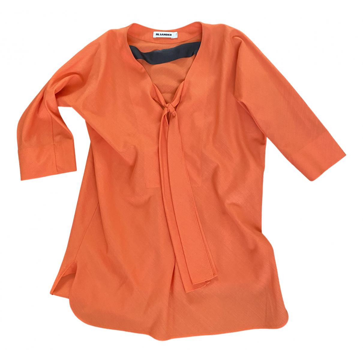 Jil Sander - Top   pour femme en laine - orange