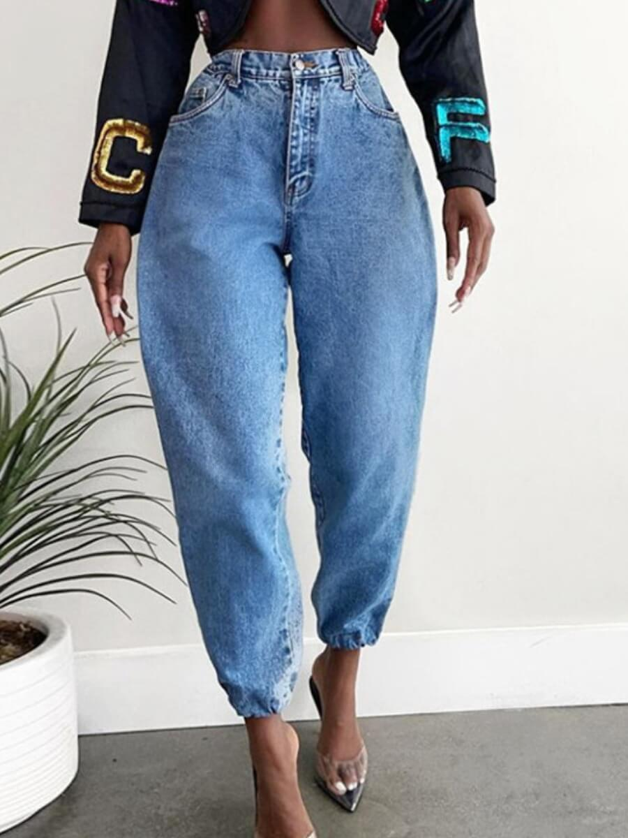 LW Lovely Casual Basic Baby Blue Jeans