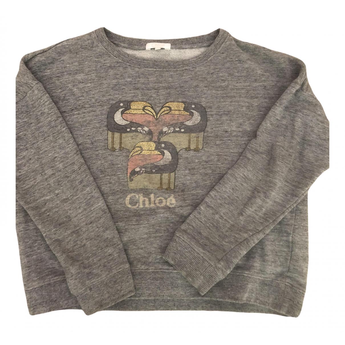 Chloé N Grey Cotton Knitwear for Kids 12 years - XS FR