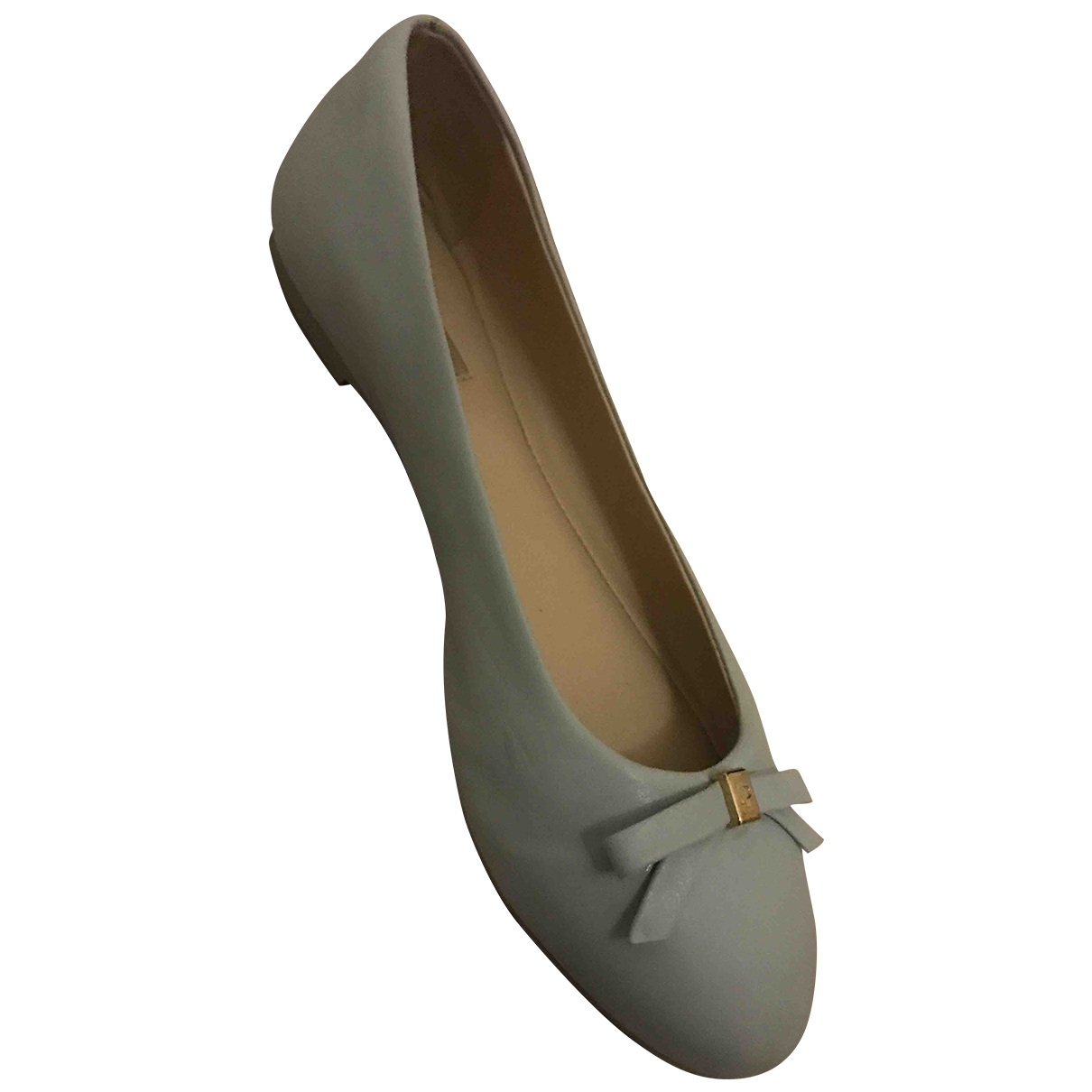 Non Signé / Unsigned \N Turquoise Leather Ballet flats for Women 38 EU