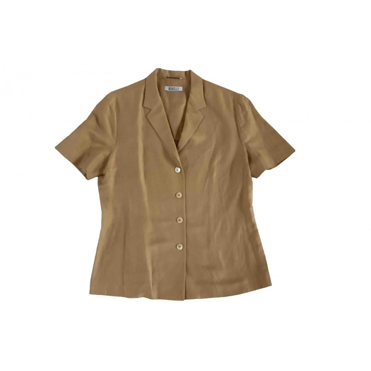 Non Signé / Unsigned \N Beige Linen  top for Women 48 IT