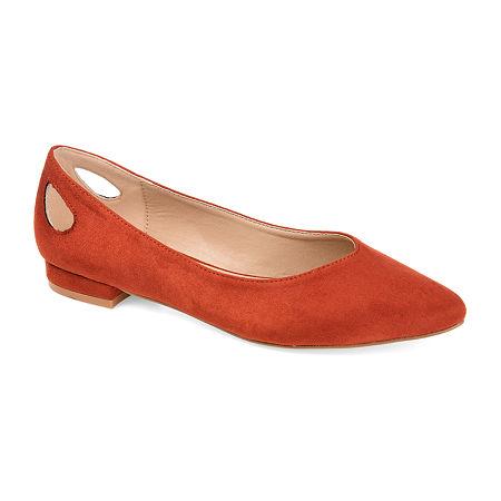 Journee Collection Womens Devon Round Toe Ballet Flats, 8 Medium, Red