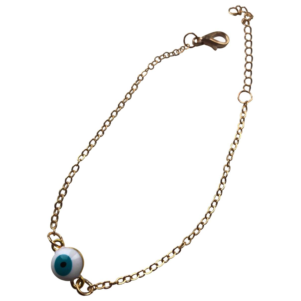 Non Signé / Unsigned Motifs Religieux Gold Metal bracelet for Women \N