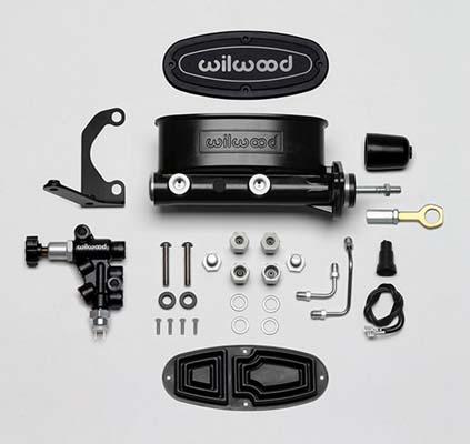 Wilwood 261-14158-BK Aluminum Tandem Master Cylinder Black E-Coat 15/16