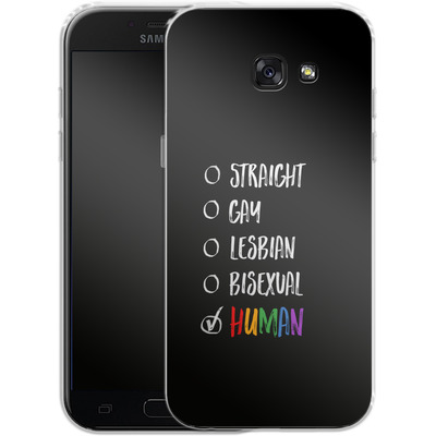 Samsung Galaxy A5 (2017) Silikon Handyhuelle - Human 1 von caseable Designs