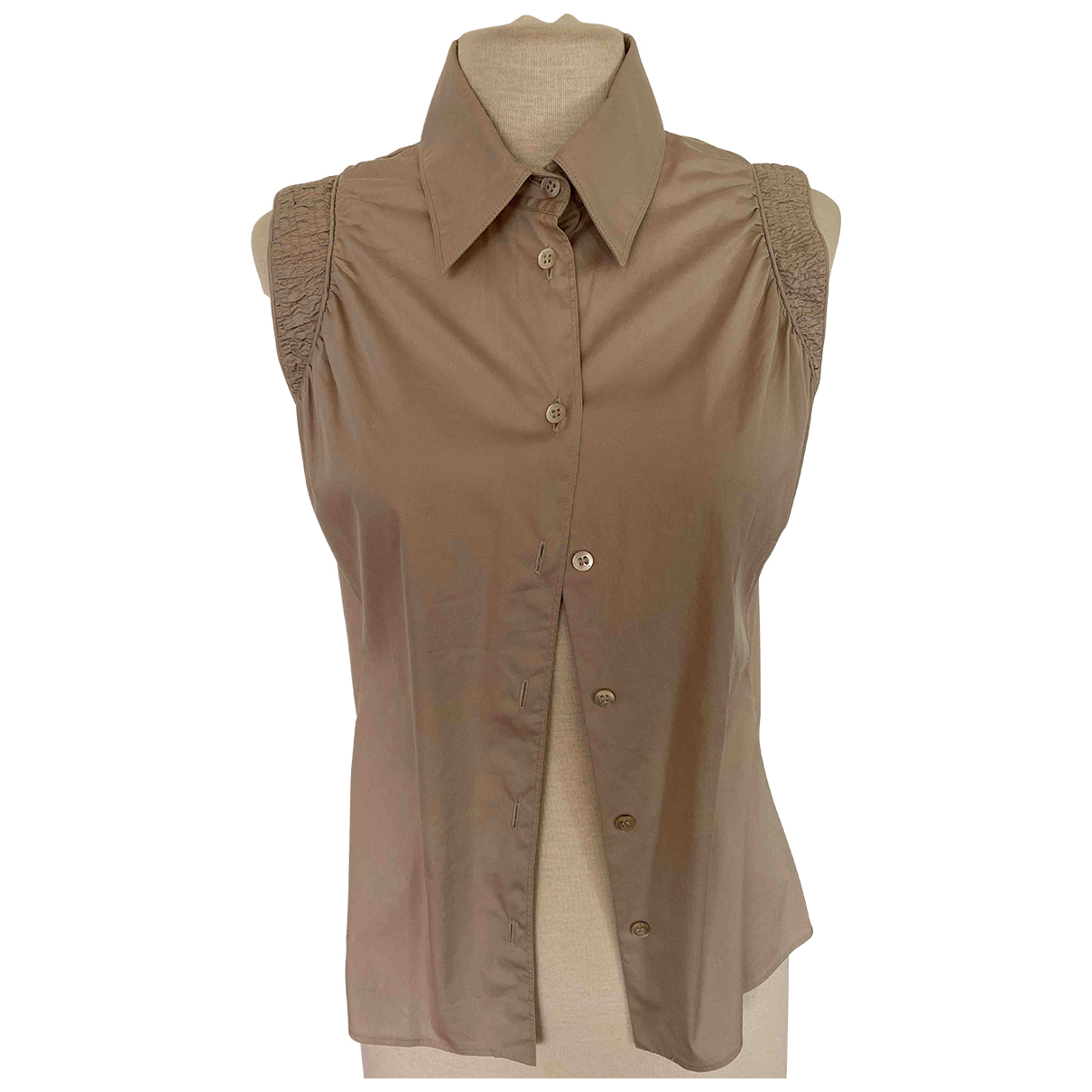 Gucci \N Beige Cotton  top for Women 44 IT