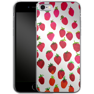 Apple iPhone 6s Silikon Handyhuelle - Strawberries von Amy Sia