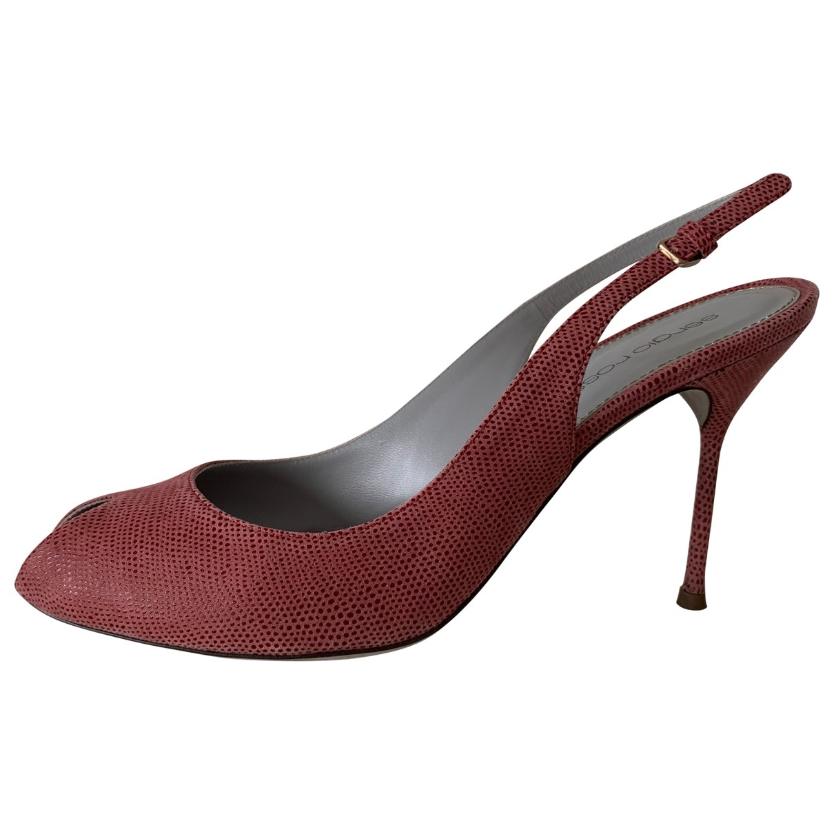 Sergio Rossi \N Pink Leather Heels for Women 39 EU