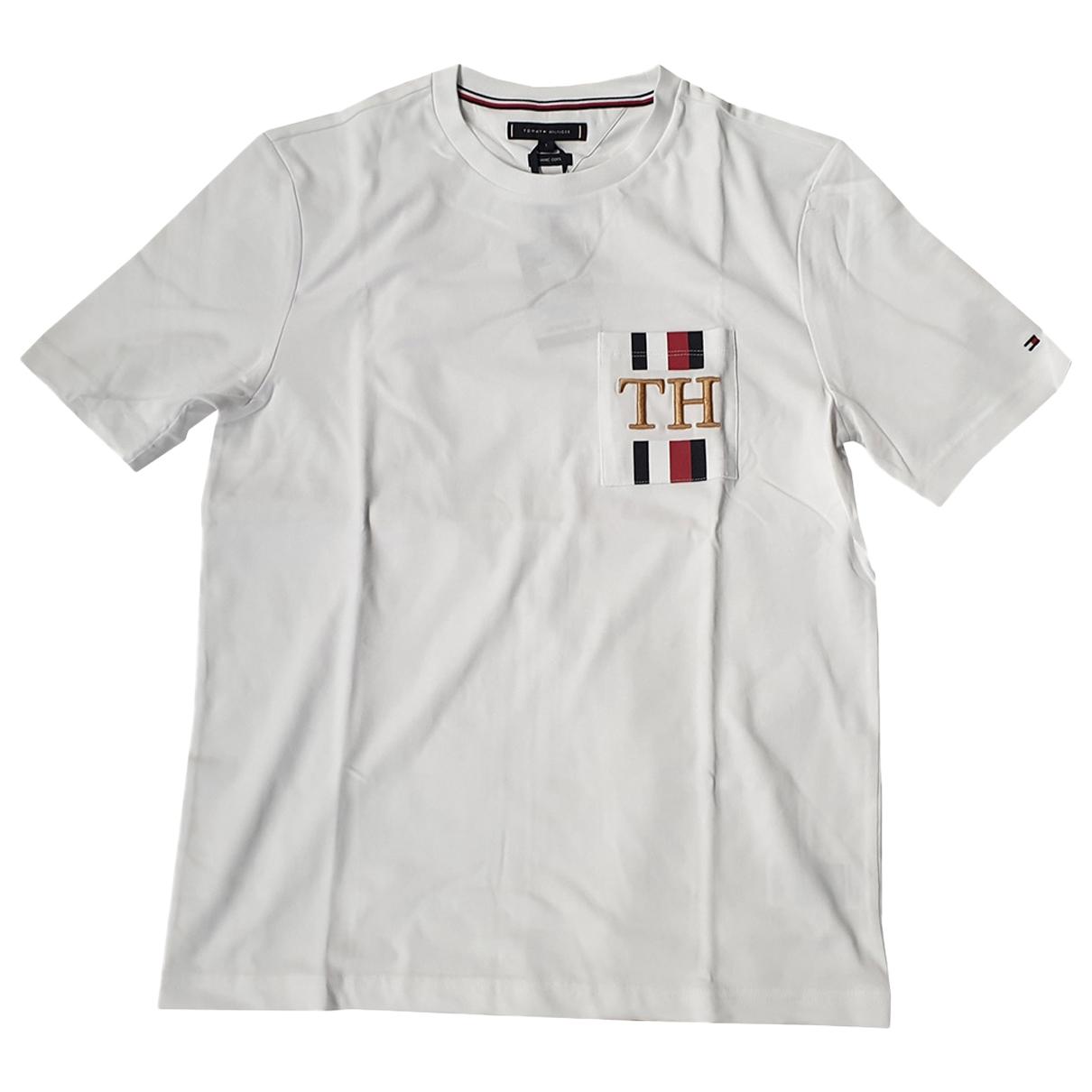 Tommy Hilfiger - Tee shirts   pour homme en coton - blanc