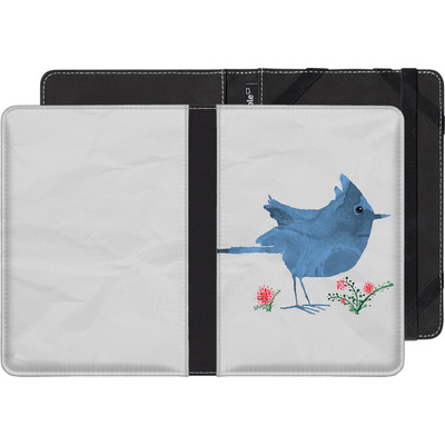Kobo Glo HD eBook Reader Huelle - Watercolour Bird White von caseable Designs
