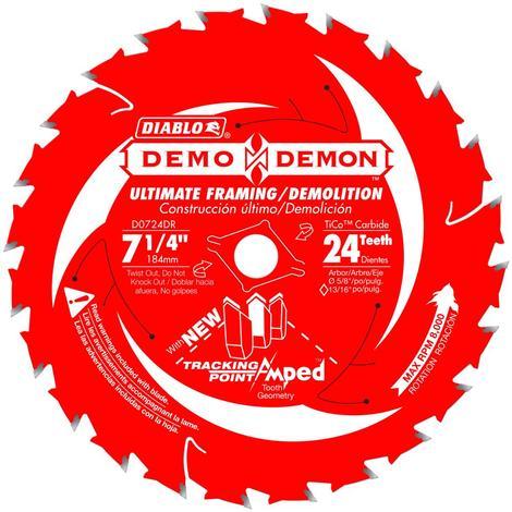 Diablo 7-1/4 in x 24 Tooth Demo Demon Ultimate Framing/Demolition Saw Blade