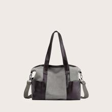Colorblock Minimalist Tote Bag