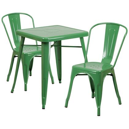 CH-31330 Collection CH-31330-2-30-GN-GG 3 Piece Indoor-Outdoor Table Set with 24