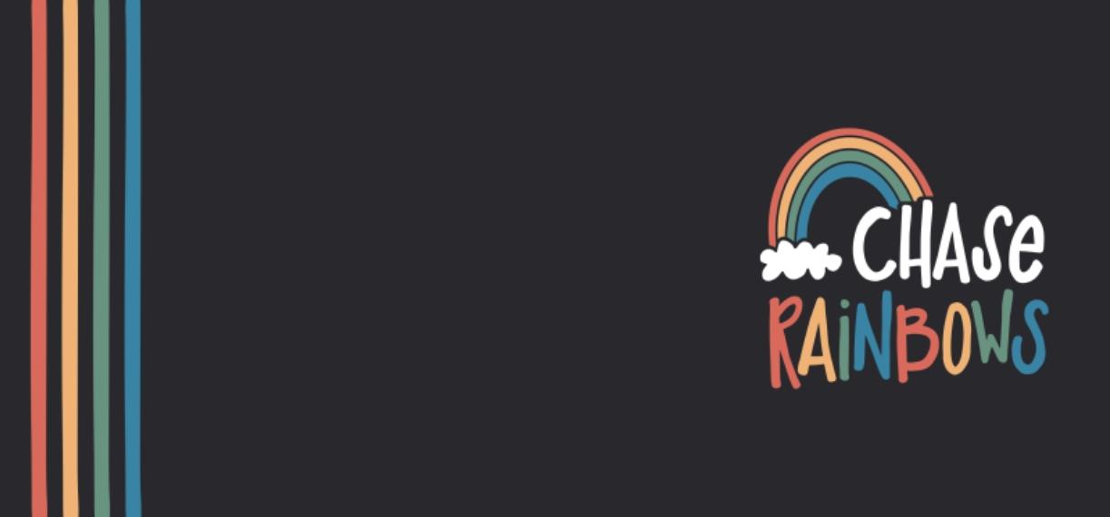 Non-Photo 11 oz. Navy Accent Mug, Gift -Chase Rainbows
